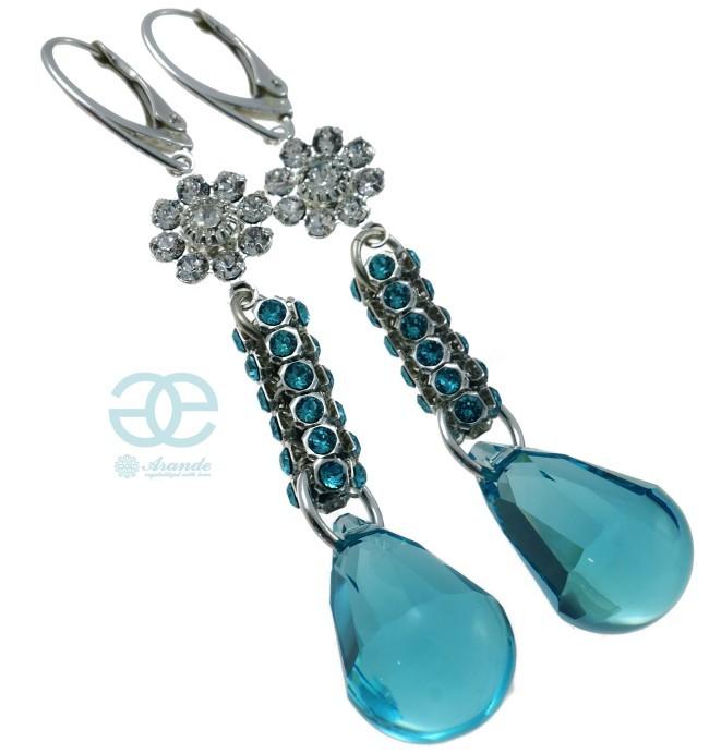 kolczyki-swarovski-crystallized-turquois