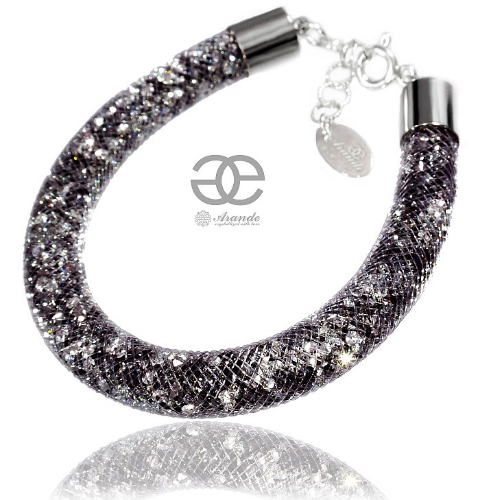 10a4aad227782 Details about SWAROVSKI CRYSTALS STARLIGHT BEAUTIFUL BRACELET COMET NIGHT  SILVER CERTIFICATE